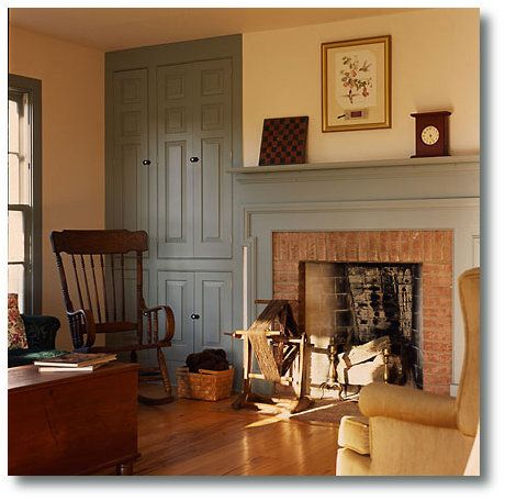 Built In Cabinets Beside Fireplace Do Something Similar To This Find Pin And More On Primitive Livingroom