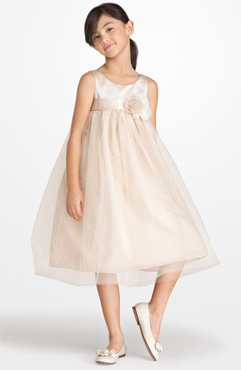 Us Angels Sleeveless Satin & Tulle Dress (Big Girls) available at #Nordstrom