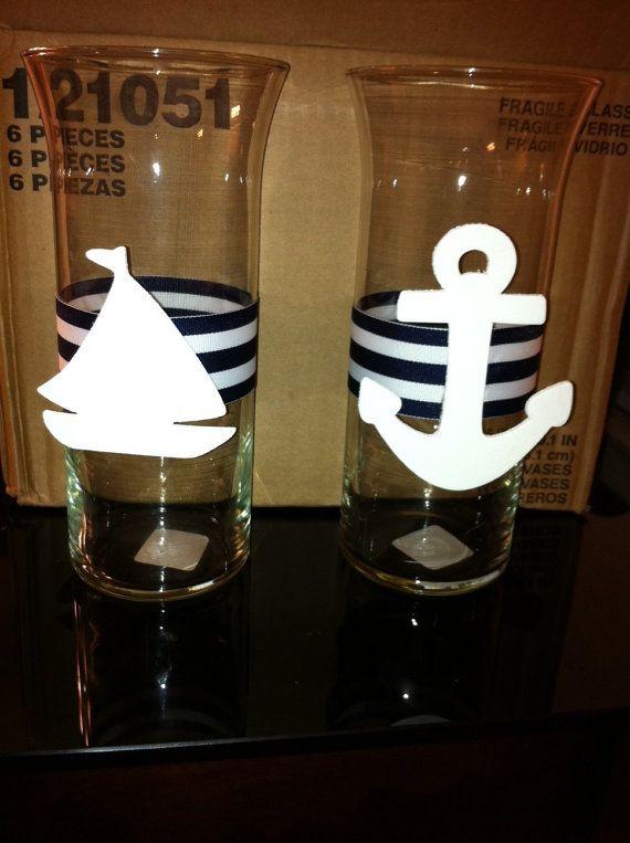 Nautical Centerpiece/Vase For Baby Shower