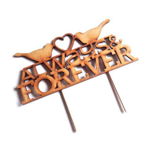 Always & Forever Bird Detail Cake Topper