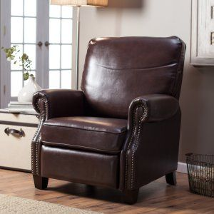 Barcalounger Ridley II Leather Recliner with Nailheads - Recliners at Hayneedle