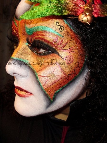 Venetian Mask Makeup (Left Side) by anilorac186, via Flickr.