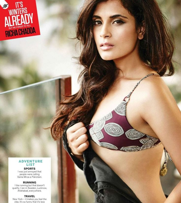 Richa Chadda Bikini Photoshoot For FHM India