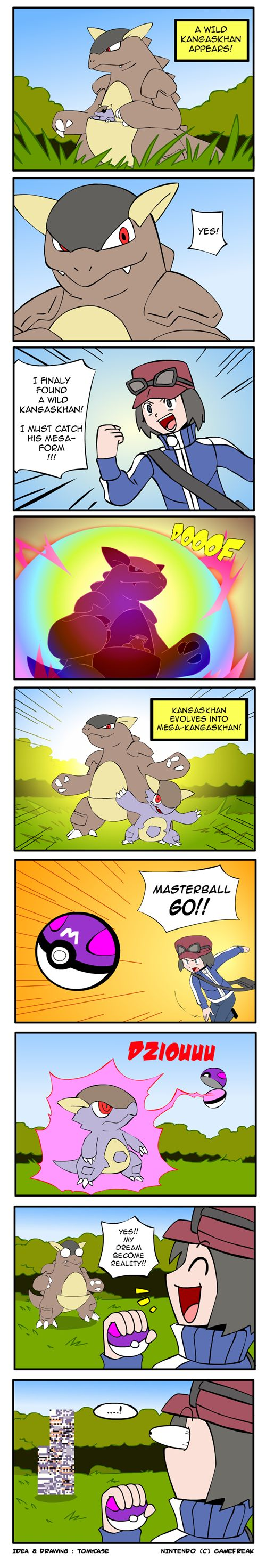 Mega Kangaskhan Error....but why the master ball so stupid what a dumbass
