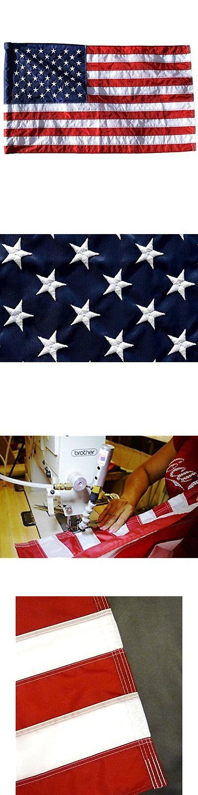 Flags 43533: 2.5 X4 Us Flags American Flag (Pole Sleeve) Outdoor Solarmax Nylon Flag Stars -> BUY IT NOW ONLY: $30.57 on eBay!