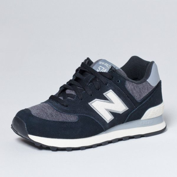 new balance 574 black blue and black new balance