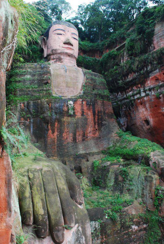 Leshan mountain buddha,Leshan, China
