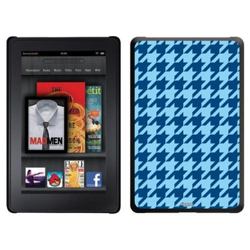 Blue Houndstooth design on a Black Thinshield Case for Amazon Kindle Fire by Coveroo. $39.95. This hard shell polycarbonate case offers a slim fit form factor, while covering the back and sides of your Kindle Fire