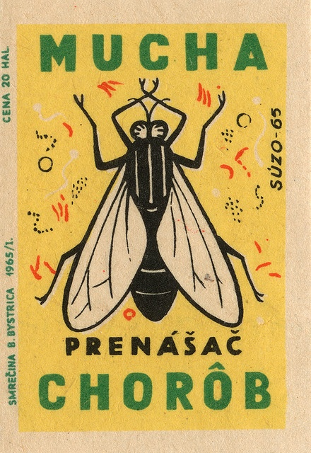Czechoslovakian matchbox label by maraid via Flickr