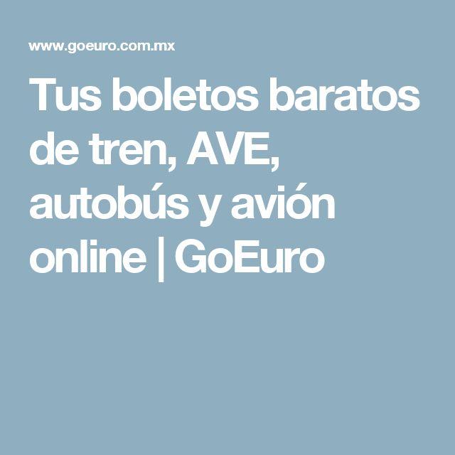 Tus boletos baratos de tren, AVE, autobús y avión online  | GoEuro