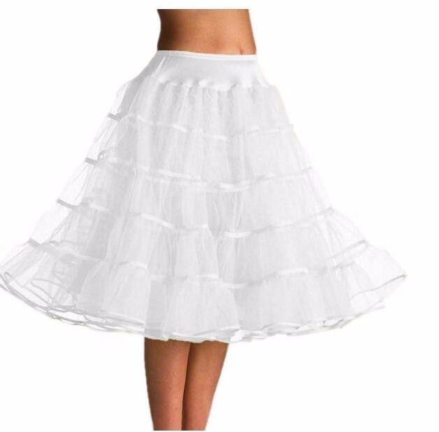 Vintage kvinnor 50s Tea Längd Tutu Petticoat Crinoline Slip bröllop underkjolar tillbehör underkjol -I Petticoats från Bröllop & Events på Aliexpress.com | Alibaba Group