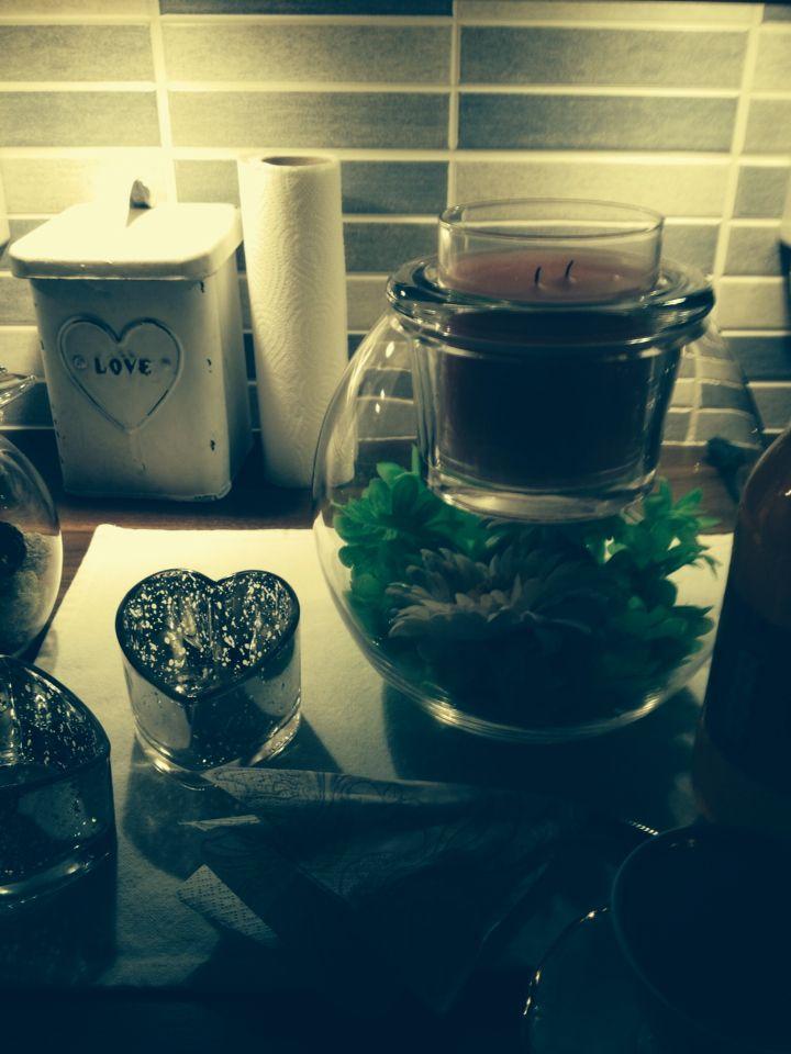 LämminSydän, luovuus somiste glolite kynttiläpurkille.