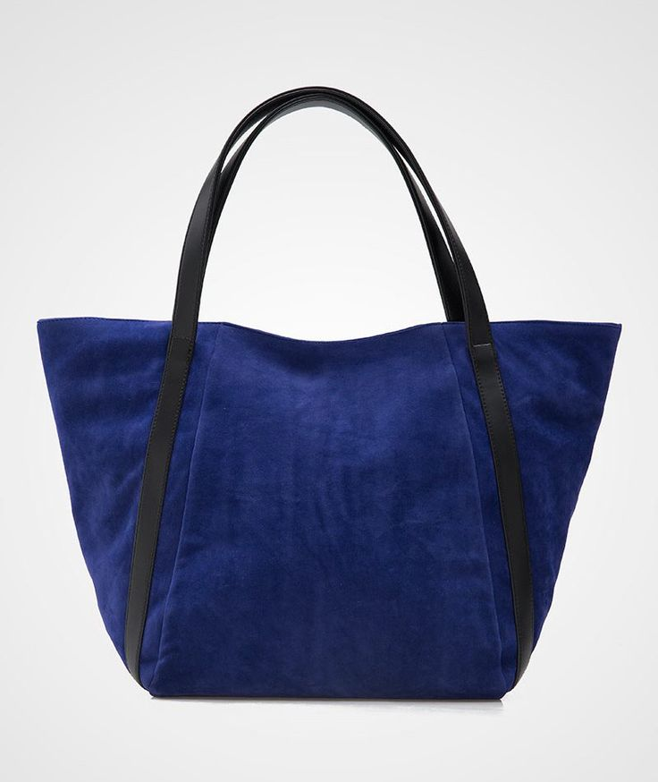 Beautiful Suede Bag by Primrose. A pretty tote bag with suede material and contrasted listed handle. Pair it with your semi casual afternoon outfit. Navy blue bag to carry your everyday stuff, it's perfect as gym bag too. http://www.zocko.com/z/JHxhu