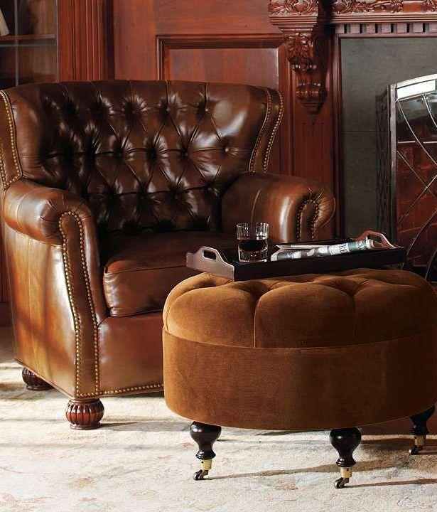 Wentworth Chair Chairs Chair And Ottoman And Leather