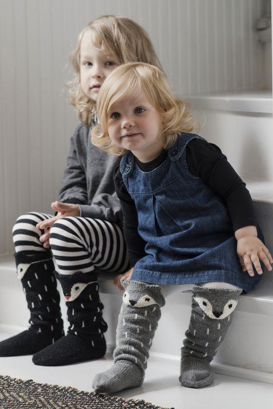 Neulotut kettusukat. Novita Venla. Fox socks knitting pattern.