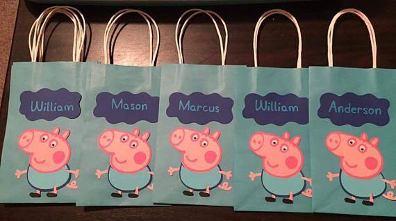 Peppa Pig Favor bags...peppa pig goodie bags..peppa pig