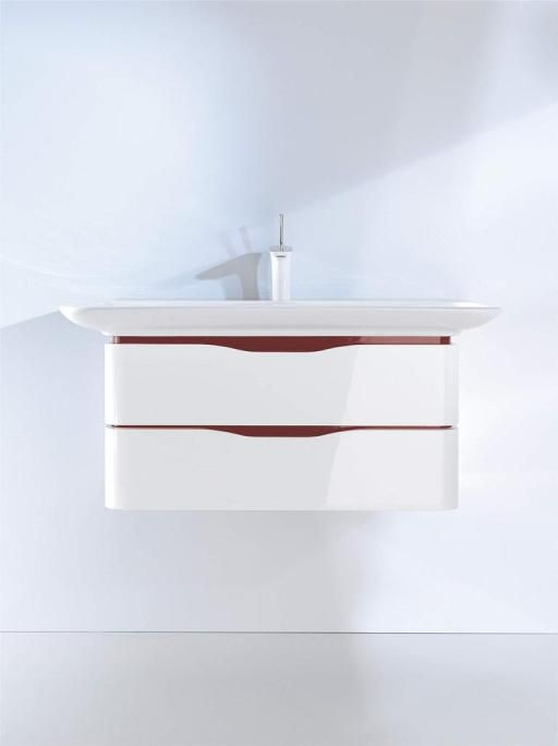 Pic On Duravit Bathroom design series PuraVida washbasins toilets bidets tubs showers and bath furniture from Duravit