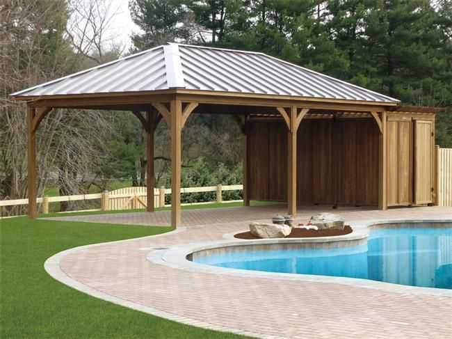 Custom Vinyl Wood Pavilions Backyard Pavilion