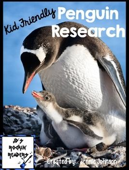 This packet includes 6 different cards that students can use to do Penguin Research.  These cards are written in kid-friendly language and have real photos.  Facts Included: Penguins Playful Penguins Penguin Predators Penguin Babies Dinner Time Penguin Bodies  Enjoy!