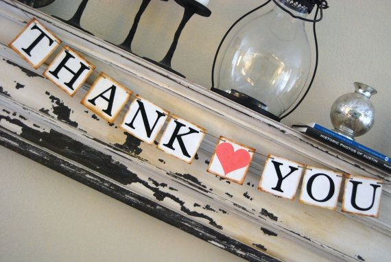 Something Like this for the Gift Table    Wedding Banner  THANK YOU  Wedding Decoration  by GreenJazzFace, $18.00