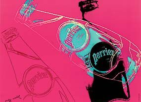 © Andy Warhol, Perrier, 1983. Montreal, Paul Marchal collection. The Andy Warhol Foundation for the