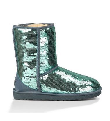Love UGGS! Love this Color! Dolphin Blue SParkle Boot #Aqua #Mint #Dolphin #Blue #Sparkle #UGG #UGGS #Sparkly #Winter #Boots