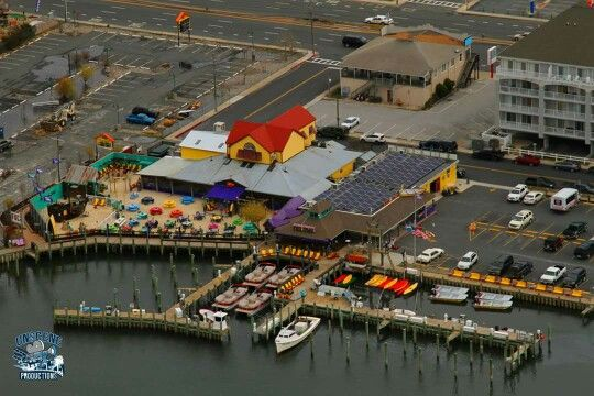 Fish tales and bahia marina from the air in ocmd ocean for Fishing in ocean city md