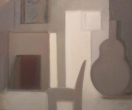 Susannah Phillips Grey Interior 2002-04 oil on linen, 28-1/4 x 24 inches Courtesy Lori Bookstein #charlesdiago
