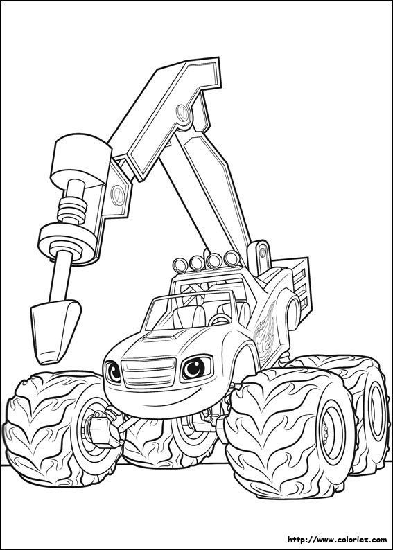 Blaze Monster Truck Coloring Pages Truck Coloring Pages