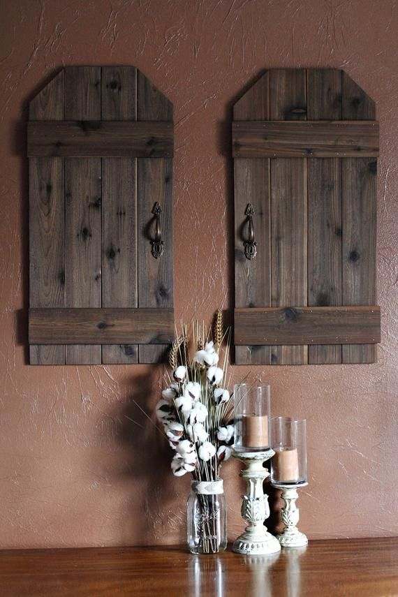Indoor Shutter Wall Decor Rustic Barn Doors Mini Barn Doors Rustic Wall Decor Rustic Shutters Farmhouse Decor Wooden Shutters With Images Rustic Shutters Shutter Wall Decor Rustic Barn Door