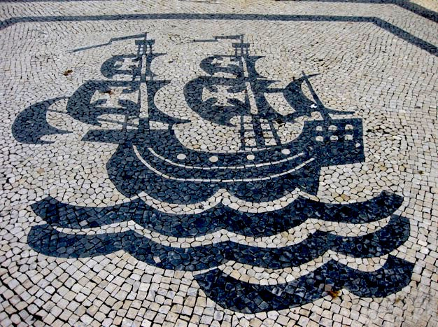 Portuguese pavement art work