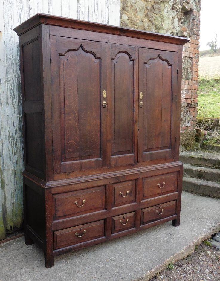 17th Century Oak Housekeepers Or Cloakroom Cupboard - Antiques Atlas - 28 Best Housekeepers Cupboards - Antique Images On Pinterest