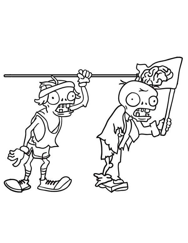 Plants Vs Zombies Coloring Pages Dancing Zombie