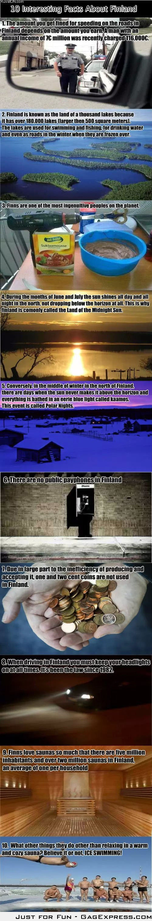 10 Interesting facts about Finland.