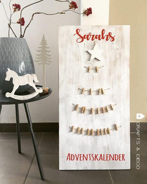 Adventskalender - Adventskalender personalisiert / Shabby Stil  - ein Designerstück von Crafts_and_Deco bei DaWanda