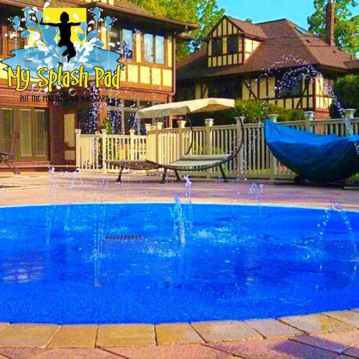 My Splash Pad residential home backyard splashpad pads installer water park spray fountain playground New York NY