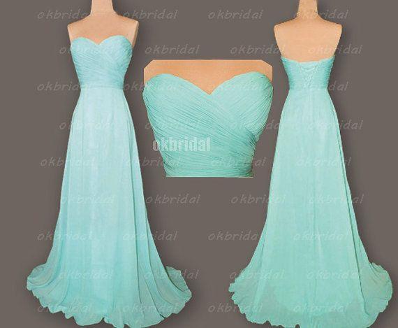 Tiffany robes de demoiselle d'honneur, robe de demoiselle d'honneur pas cher, robe de bal robe de demoiselle d'honneur, robe de bal en mousseline de soie, robe de bal longue, RE294 sur Etsy, 94,64€