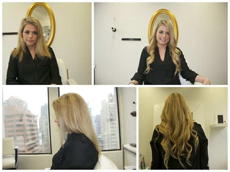 The amazing, stunning Michelle Apples, before and after hair extensions.  Like her on Facebook: https://www.facebook.com/apples.michelle  http://www.pacifichair.ca/pages/hair-extensions