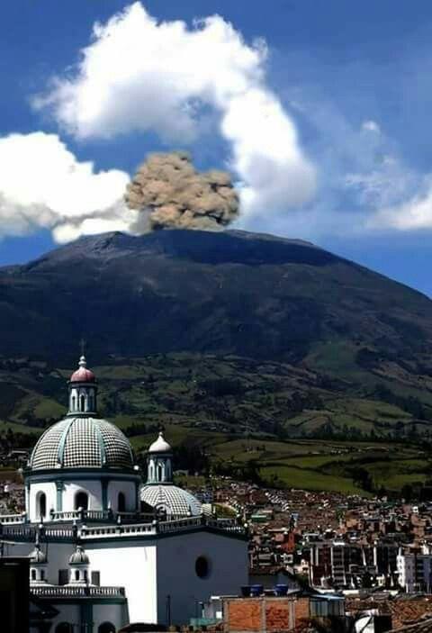 Volcán galeras pasto Nariño Colombia