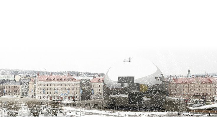 A jewel upon the old town of Sundsvall | Competition entry for a new art center-building theatre in Sundsvall | Sweden 2009