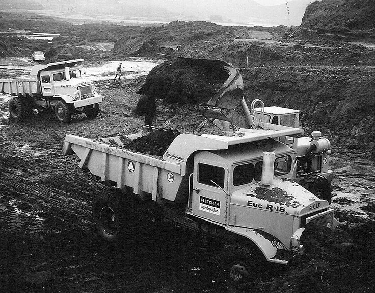 Believed to have been taken on the Tongariro Power Scheme, these two R-15's are model B6FD's and were owned by Fletcher Construction from new. They were in the last batch of R-15's imported into New Zealand