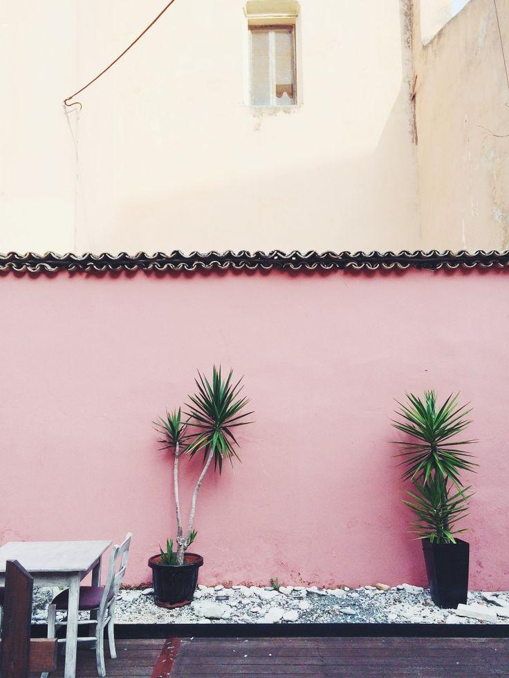 Pink patio wall | kimficaro | VSCO Cam