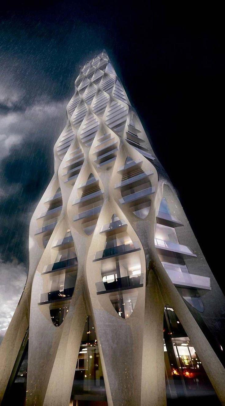 'karlavagnstornet' – Five skyscraper proposals in Gothenburg, Sweden (Lindholmen). Competing architects: Manuelle Gautrand, Ian Simpson, SOM, Wingårdhs and Zaha Hadid #amazingarchitecture
