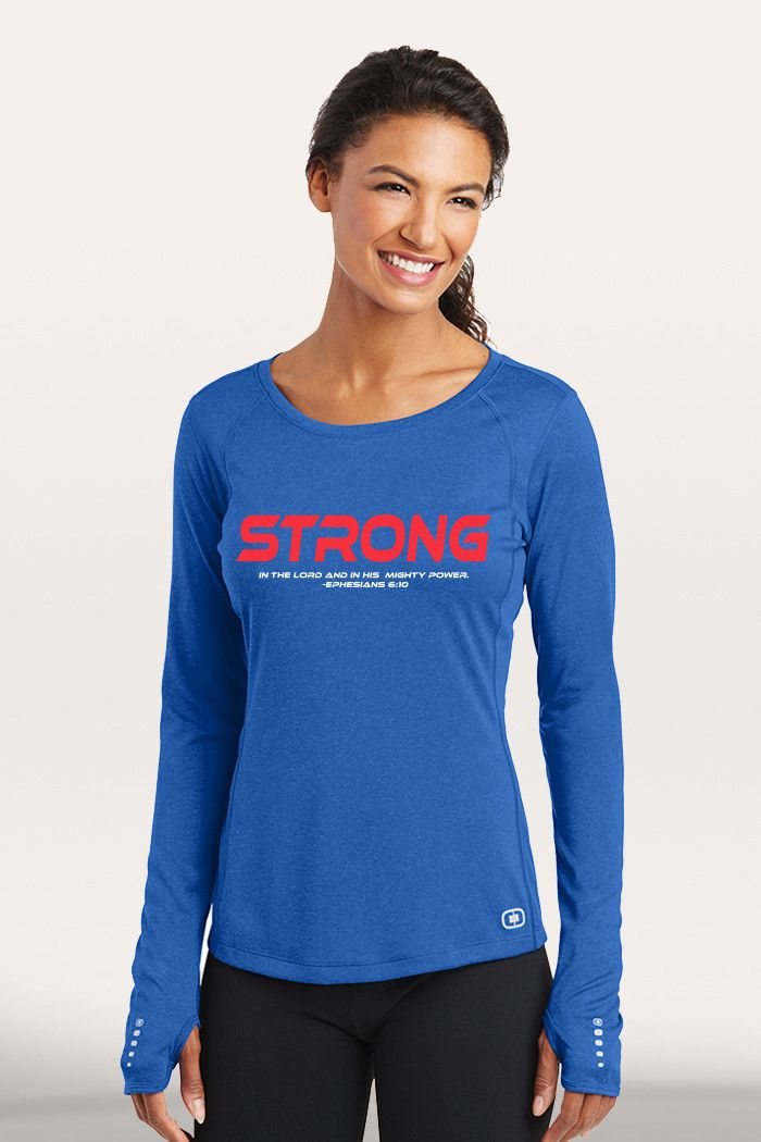 Strong Women's Active Long Sleeve - Blue