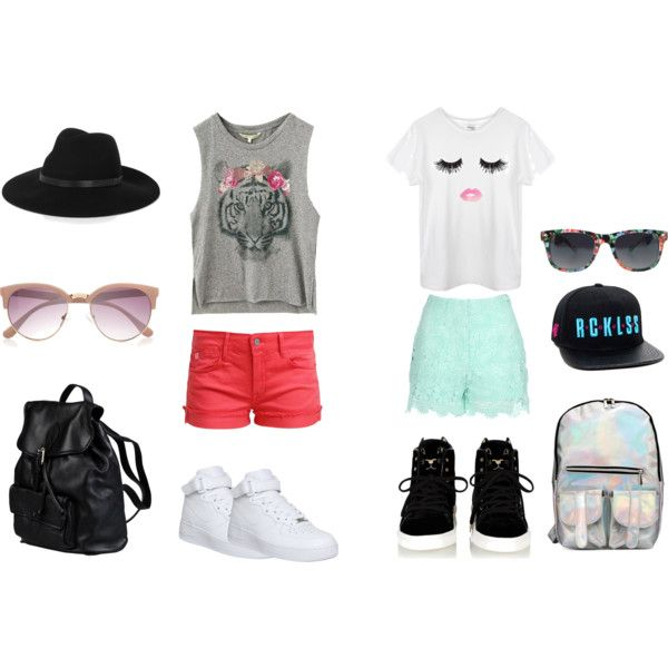 PUERTO DE MIAMI / SHOPPING by communitymanagertav on Polyvore featuring moda, Jane Norman, Le Temps Des Cerises, NIKE, Doucal's, By Malene Birger, River Island, Summer and outfit