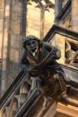 Gargouille gothique cathédrale Saint-Guy de Prague stock photography