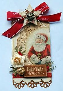 """vintage"" Santa tag"