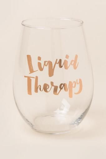Liquid Therapy Stemless Wine Glass