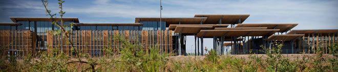 Lauréat du Prix Etudier : Collège Aimé Césaire, Saint-Geours-de-Maremne (40) - Agence d'architecture : Patrick Arotcharen (64) - Chef de projet Orane Garrigos - Photographes : Mathieu Choiselat et Vincent Monthiers