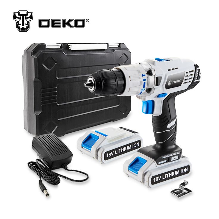 DEKO GCD18DU3 18V DC Power Supply Lithium-Ion Battery Cordless Drill Power Drill //Price: $112.61 & FREE Shipping //     #wood drills  #CARVING CHISEL  #Double Feather   #Board Router   #Drill Chuck Screwdriver   #Drill Bit